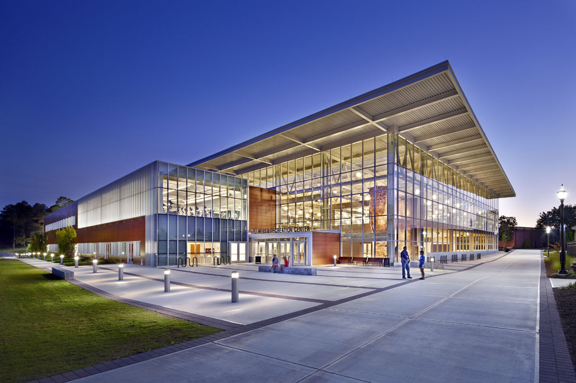 Menefee architecture wellness and recreation center for College building design